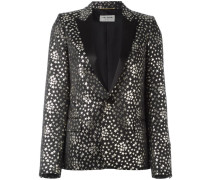 star jacquard blazer