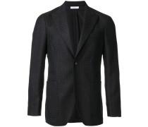 patterned classic blazer