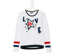 - 'Love' Pullover - kids - Baumwolle - 14 yrs