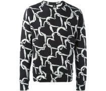 Swetshirt mit Herz-Print