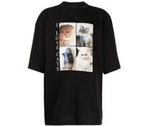I Love Cats Oversized-T-Shirt