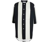 Langes Hemd mit Streifen