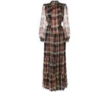 woven print maxi dress