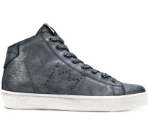 perforated crown hi-top sneakers