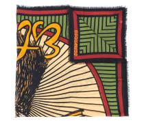 Ausgefranster Schal mit Print
