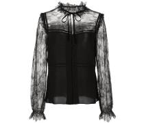 lace panel blouse
