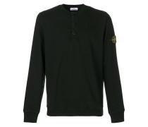 Henley-Pullover mit Logo-Patch