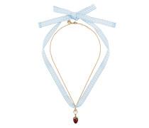 Halskette mit Erdbeer-Anhänger