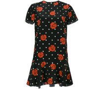 floral polka-dot dress