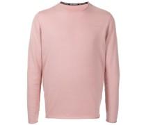 fine-knit logo-print jumper