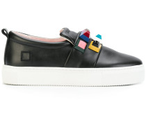 D.A.T.E. Slip-On-Sneakers mit Nieten