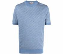 T-Shirt mit strukturiertem Einsatz