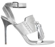 Tasselled Metallic Leather Sandals