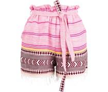 Neela geometric-print cotton shorts
