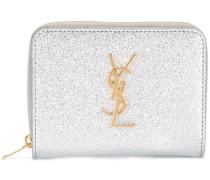 Monogram compact zip around wallet