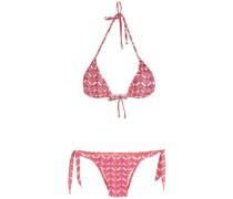 Bikini mit Zickzackmuster
