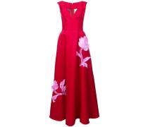 Florales Abendkleid mit V-Ausschnitt