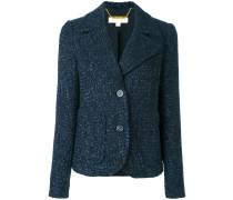 Tweed-Blazer mit fallendem Revers