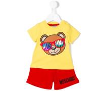 Shorts-Set mit Teddybär-Print - kids