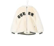 polar bear hooded bomber jacket