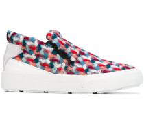 tweed slip-on sneakers