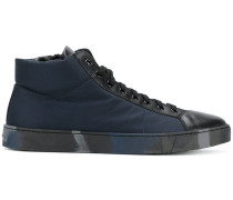 High-Top-Sneakers mit Kontrasteinsatz