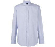 - Hemd mit geometrischem Saum - men - Baumwolle