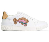 Sneakers mit Fisch-Patch - women - Leder/rubber