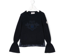 gathered sleeves sweater