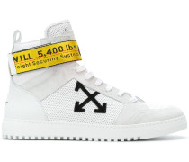 industrial tape high top sneakers