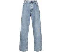 Lockere Jeans mit Stone-Wash-Effekt