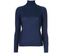 ribbed turtleneck pullover