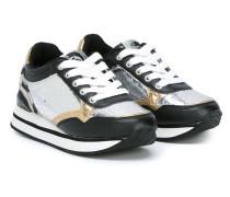 Sneakers mit Krokodilleder-Prägung
