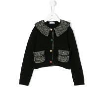 tweed detailing cardigan