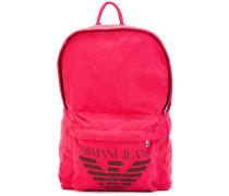 logo print backpack - men