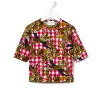 T-Shirt mit Dschungeltier-Print