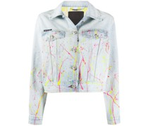 'Hot n' Cold' Cropped-Jeansjacke