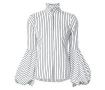 striped blouson cuff shirt