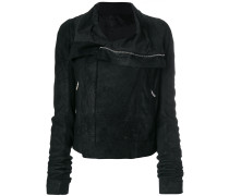 double-breasted zip jacket