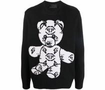 Pullover mit aufgesticktem Teddy