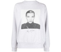 Sweatshirt mit Kate-Moss-Print
