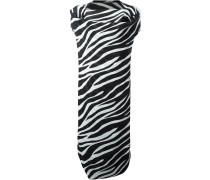 Drapiertes Kleid mit Zebra-Print