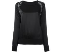 - Satin-Sweatshirt mit Kontrastnähten - women