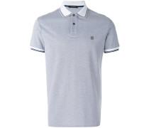 contrast collar polo shirt