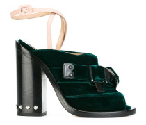 - Peeptoe-Sandalen mit Schnalle - women