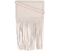 studded fringed shoulder bag