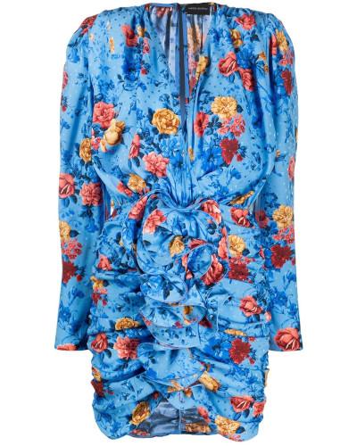 Gerafftes Kleid aus Seide