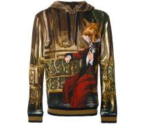 'Mr Fox' Kapuzenpullover mit Print
