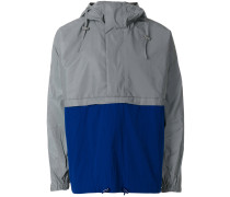 panelled hooded jacket