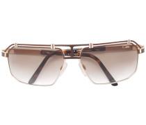 Sonnenbrille mit Logo - unisex - Acetat/metal